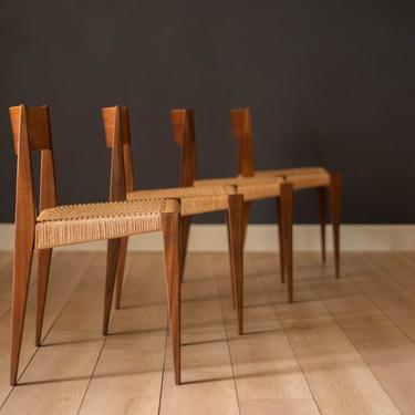 Vintage Set of Four Danish Teak Dining Chairs by Poul Cadovious by MidcenturyMaddist