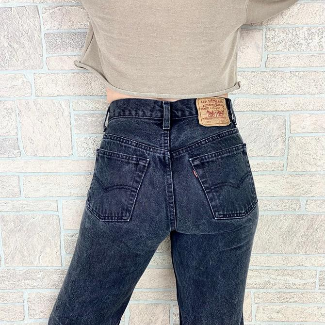 Levi's 501 Faded Black Jeans / Size 26 by NoteworthyGarments