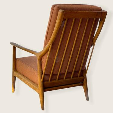 Free Shipping Within US - Vintage Mid Century Modern Oak Sofa Lounge Chair by Jack Van Der Molen by BigWhaleConsignment
