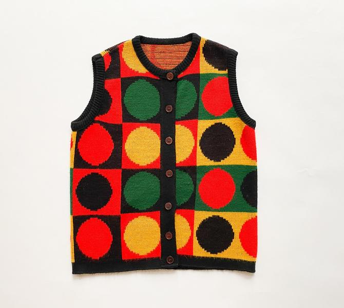 1970s Op-Art Knit Vest by waywardcollection