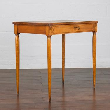 Antique Country French Art Deco Style Maple Petite Writing Desk or Side Table by StandOutSpaces