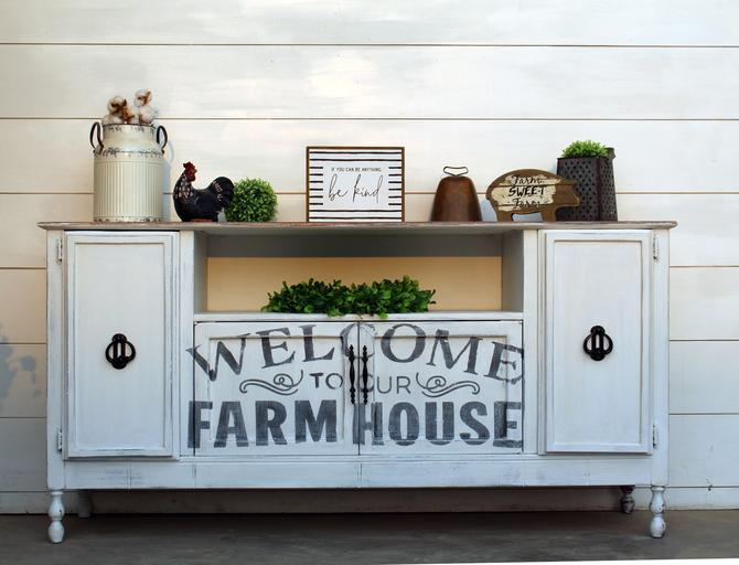 Welcome to Our Farmhouse – Cabinet