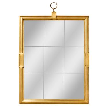 Tommi Parzinger Large Wall-Hanging Mirror with Gilded Frame 1960s