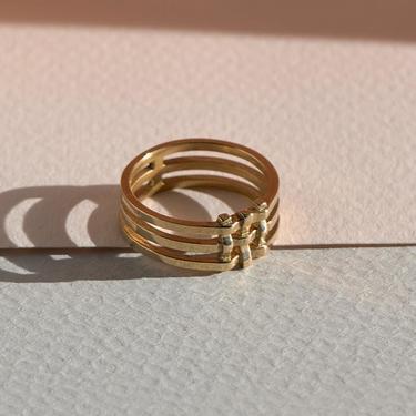 Brass Crosshatch Ring