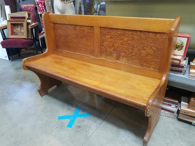 Pine Bench Seat 51.75 x 36 x 19
