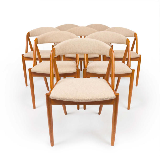 Vintage Kai Kristensen Model 31 Dining Chairs 1906s, Set of Eight by MCMSanFrancisco