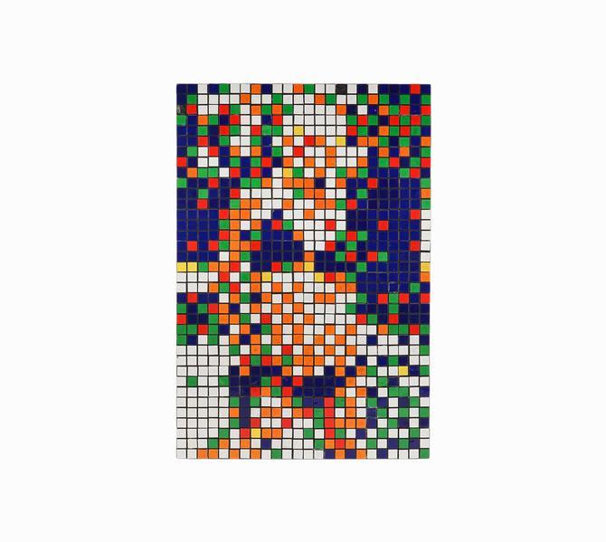 Rubik's Cube Bikini Girl Sculpture Pop Art by VintageInquisitor