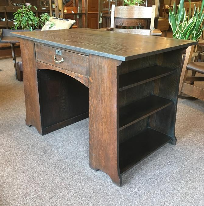 Circa 1910 Craftsman Oak Writing Desk