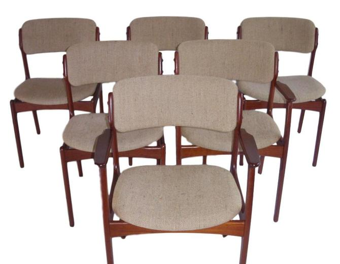 6 Danish Modern Teak Dining Chairs By Erik Buck (Buch) For OD Mobler, 4 Side & 2 Arm Chairs, Vintage 1960s Text Call Offeres 571 330 0810 by RetroSquad