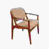 Arne Vodder Vamo Ella Teak Dining Arm Chair by HearthsideHome
