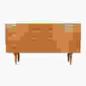 Danish Modern Oak 8 Drawer Dresser / Sideboard by Hundevad