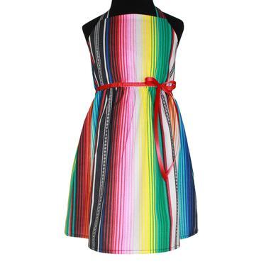 Girls Festive Serape Halter Dress - 2T,4T,6T, 8 / Little Girls / Toddler Dress by VintageGaleria
