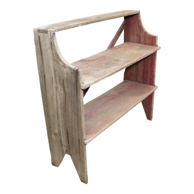Antique Primitive Wood Potting Bench Shelf/Book Shelf by AnnexMarketplace
