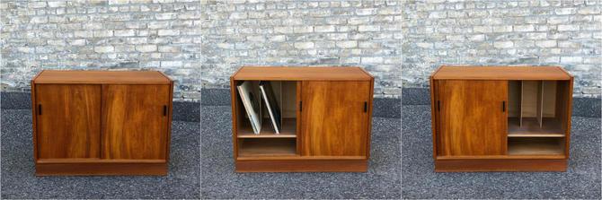 Danish Modern Teak Lp Storage Cabinet