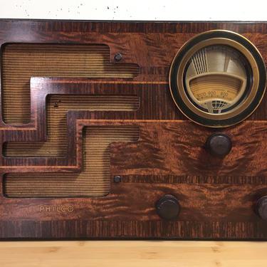 Restored 1938 Philco AM Shortwave Table Radio 38-62T by Deco2Go
