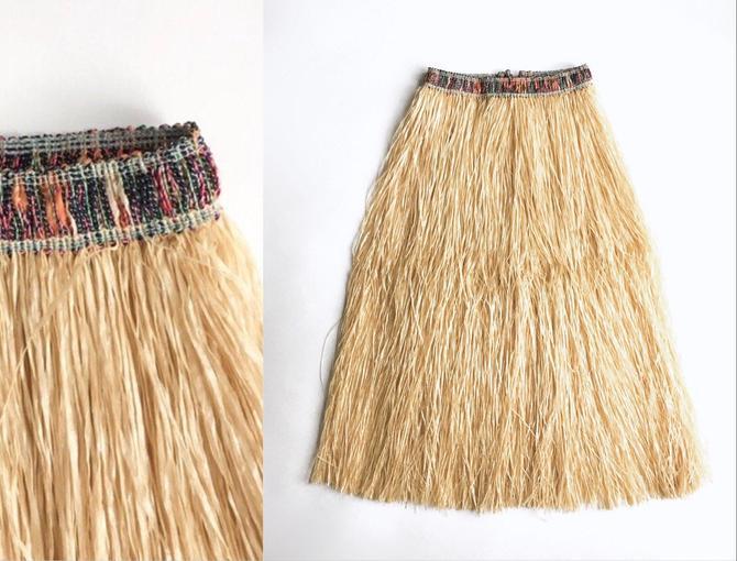 1950s Vintage Grass Hula Novelty Skirt by hemlockvintage