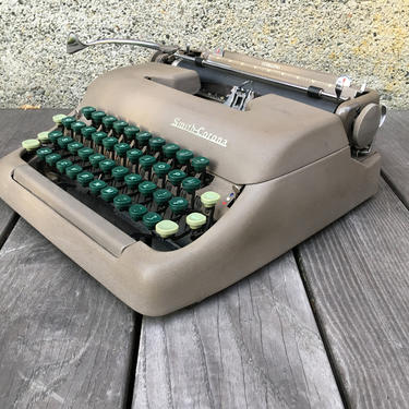 1949 Smith Corona Sterling Portable Typewriter with Case, Owner's Manual by Deco2Go