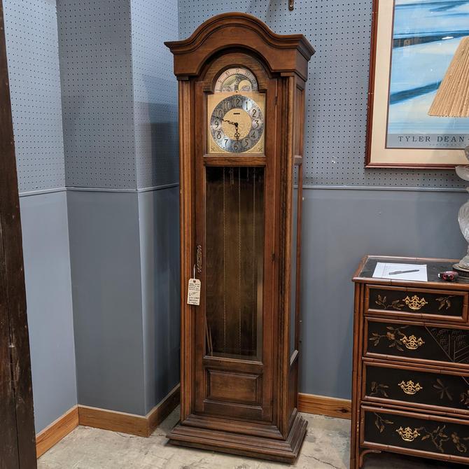 Vintage 1977 Howard Miller Grandfather Clock Model #4803