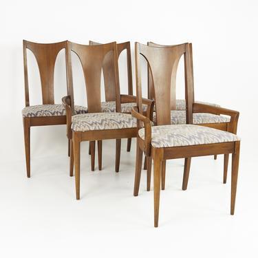 Broyhill Brasilia Mid Century Walnut Dining Chairs - Set of 6 - mcm by ModernHill