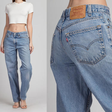 Vintage Levi's Light Wash Unisex Jeans - 32x32 | 90s Denim Relaxed Fit Tapered Leg Jeans by FlyingAppleVintage