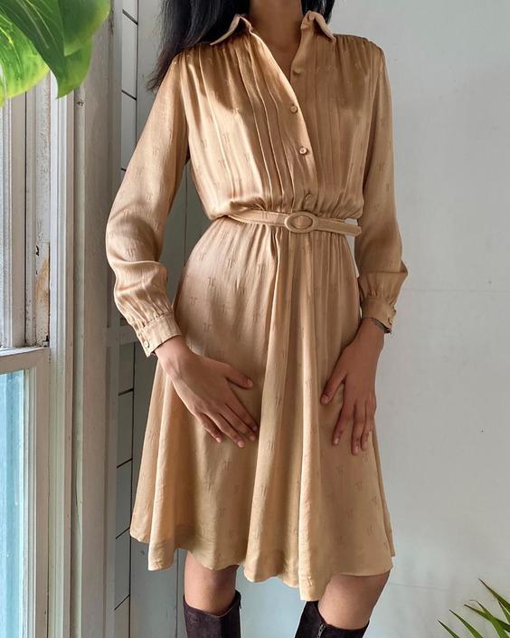 80s Lanvin Silk Dress