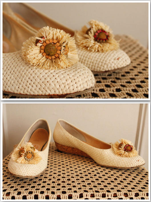 1960s Shoes // Woven Joyce Summer Wedges // vintage 60s wedges by dethrosevintage