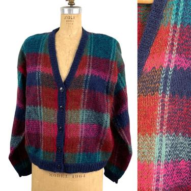 1980s boxy mohair cardigan by Epogee - size XL by NextStageVintage