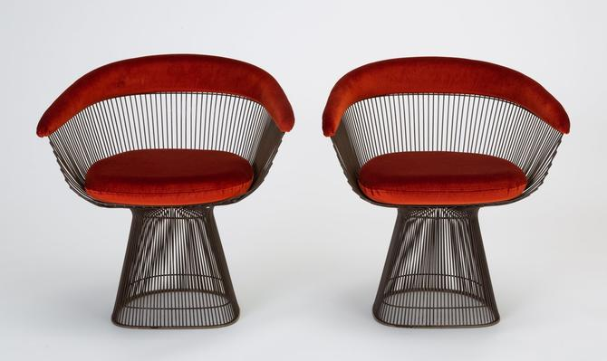 Tremendous Pair Of Bronze Accent Chairs By Warren Platner For Knoll Gamerscity Chair Design For Home Gamerscityorg
