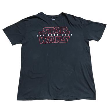 (XL) Star Wars The Last Jedi Black Tshirt 060421 LM.