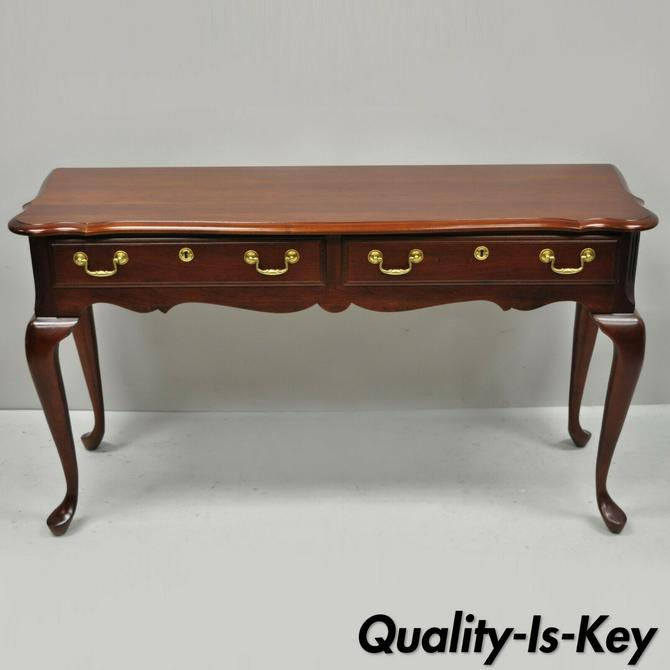 "Pennsylvania House Cherry Wood Queen Anne 48"" Long Console Sofa Hall Table"