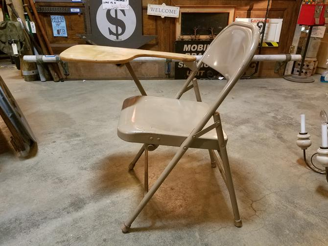 Vintage Folding School Desk Chair