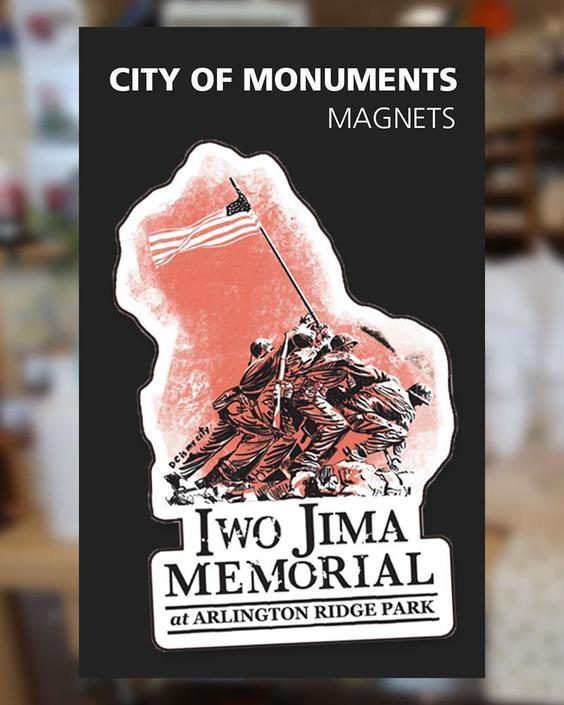 Iwo Jima Memorial - Magnet - City of Monuments