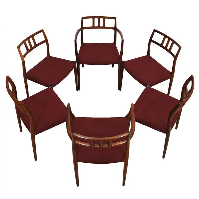 Set of 6 Danish ROSEWOOD Niels Moller Dining Chairs