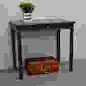 Writing Desk painted in Graphite color / Small Desk with one drawer painted in Dark Grey by UniquebyRuth