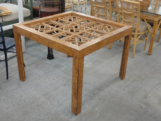 Tortoise Shell Chippendale Bamboo Game Table