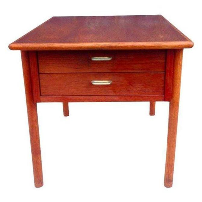 Danish Modern Two-Drawer Side Table
