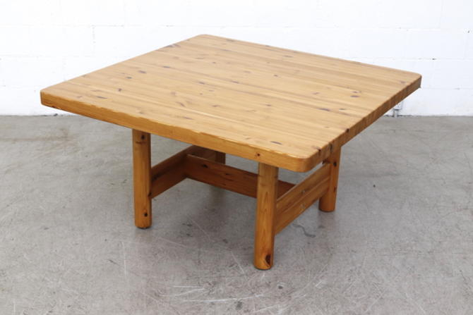 Square Rainer Daumiller Pine Table for Hirtshals Savvaerk
