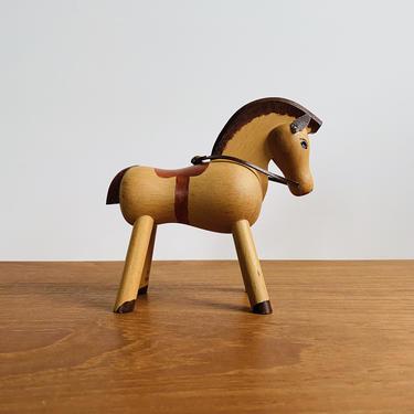 Vintage Kay Bojesen wooden horse / wood toy made in Denmark / mid-century Scandinavian design by EarthshipVintage