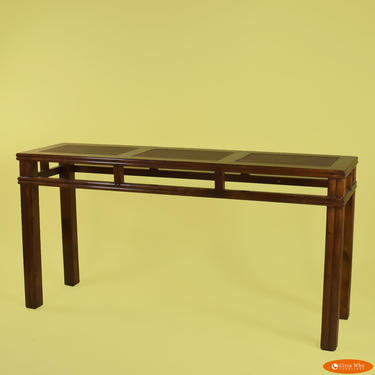 Woven Rattan Console Table by Palecek