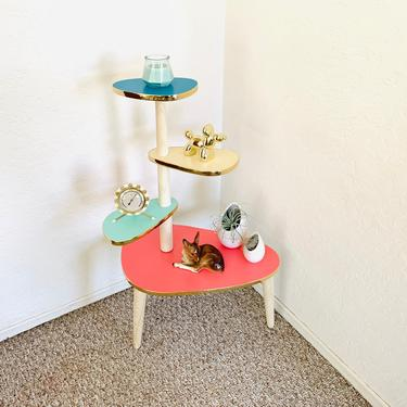 Atomic Tiered Formica Table - Reproduction with minor imperfection by dadacat