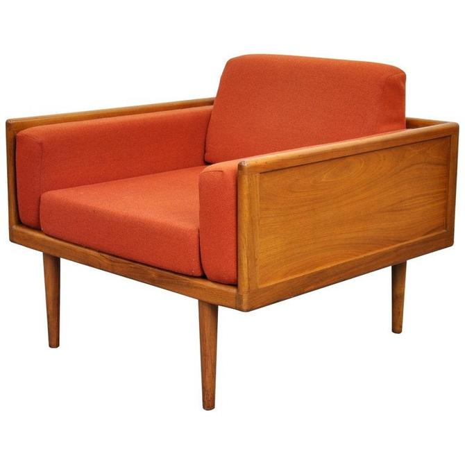 Mel Smilow for Smilow-Thielle Walnut Case Lounge Chair by SelectModernDesign