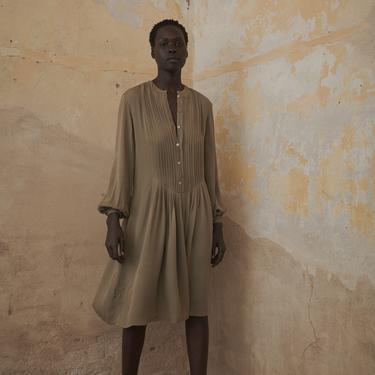 Beene Silk Pleat Dress