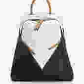 Roman Black and White Bag