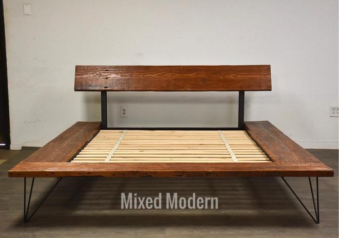 Queen Barn Wood Rustic Queen Bed by mixedmodern1
