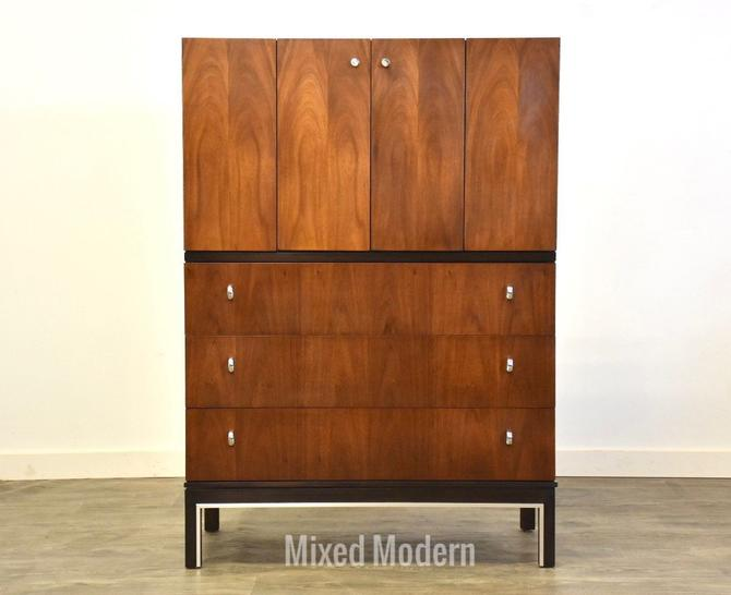 American of Martinsville Ebonized Walnut Armoire Dresser by mixedmodern1
