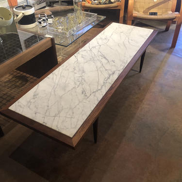 Mid Century Marble Top Coffee Table by bcdrygoods