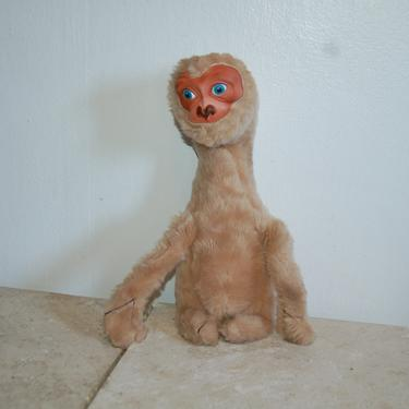 Vintage 1982 KO Rubber Face Rushton E.T. Extra Terrestrial Plush Stuffed Movie Character Doll / Animal ~ E.T. Phone Home by YesterdayAndTomorrow