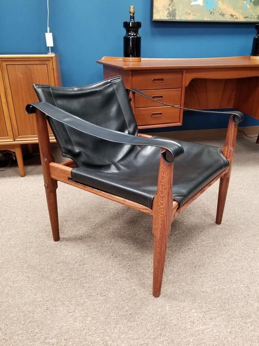 Mid-Century Modern Safari chair by Brown & Saltman