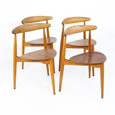 Hans Wegner for Fritz Hansen Mid Century Teak Dining Chairs - Set of 4 - mcm by ModernHill