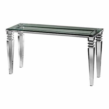 Contemporary Venetian Acrylic and Glass Console Table
